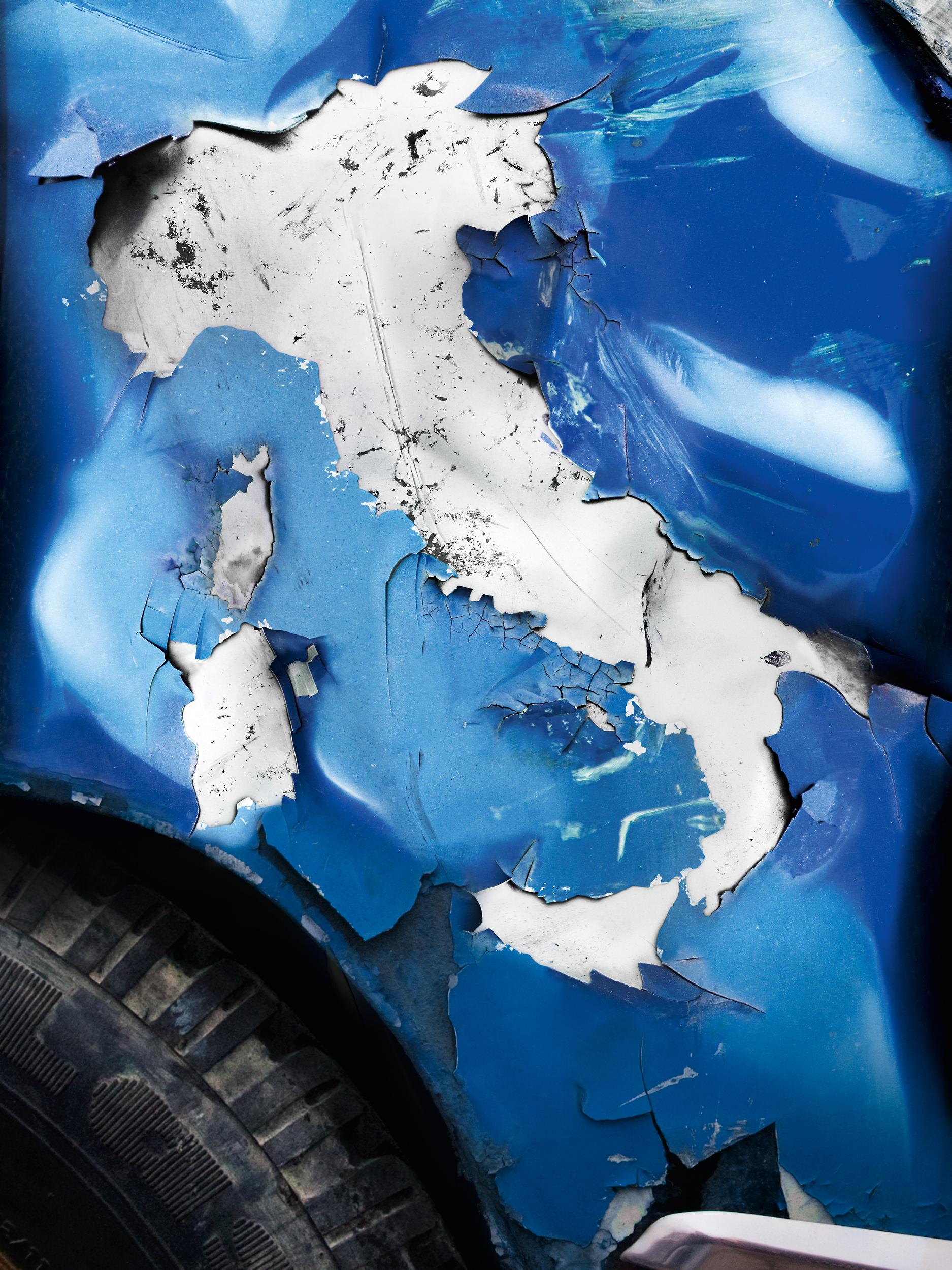 Blaupapier Bildretusche Allianz Auslandsvericherung Lack Italien