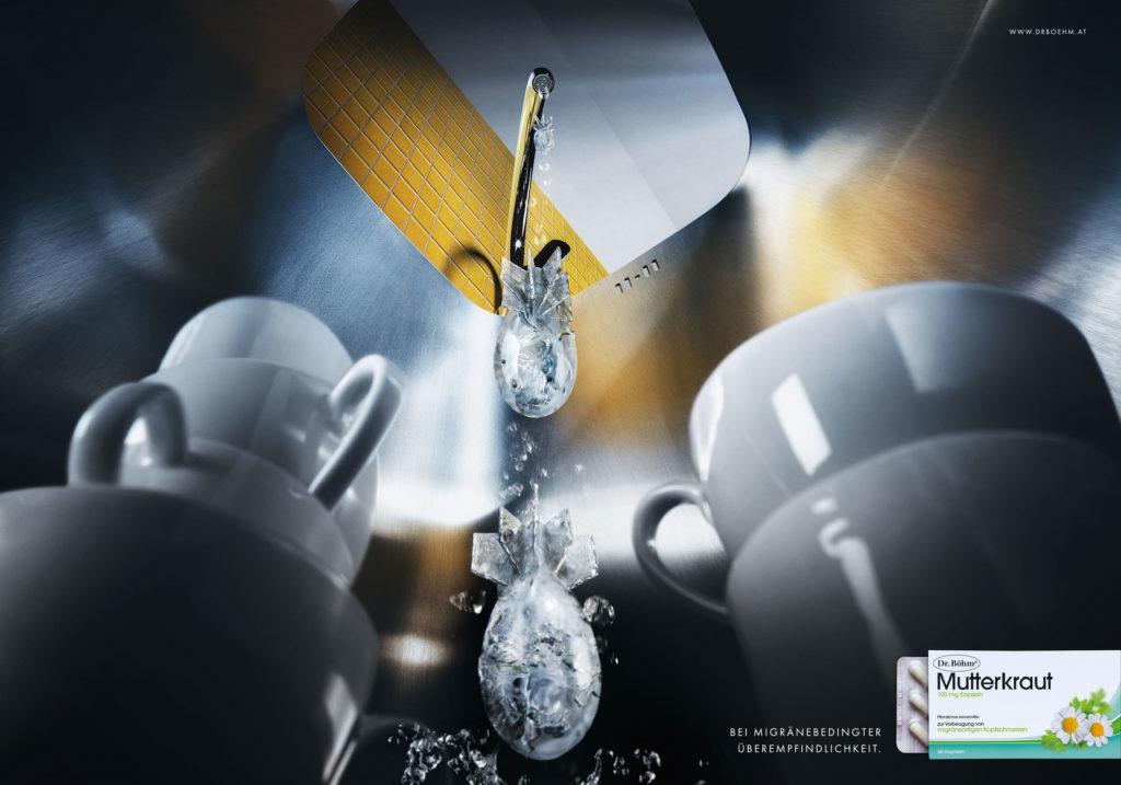 Blaupapier Bildretusche Fotografie CGI Boehm Migraene