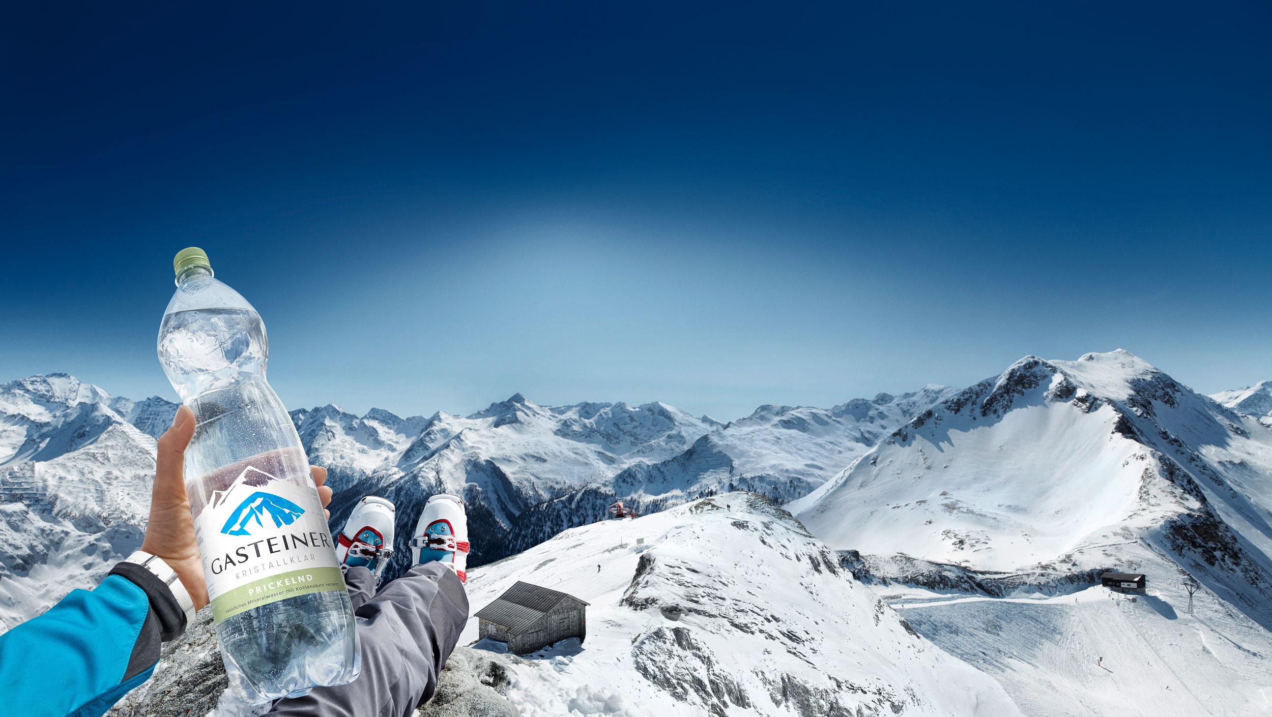 Blaupapier Bildretusche Gasteiner Gebirge Winter