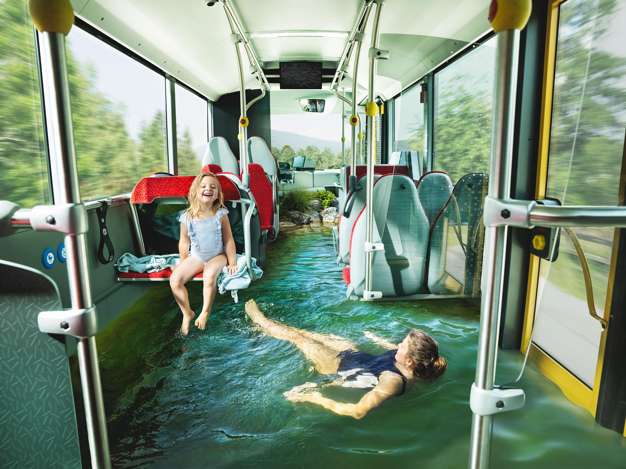Blaupapier Bildretusche Vvt Bus See