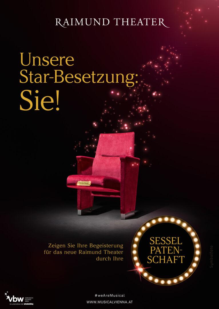 Blaupapier Bildretusche Raimundtheater Starbesetzung Poster